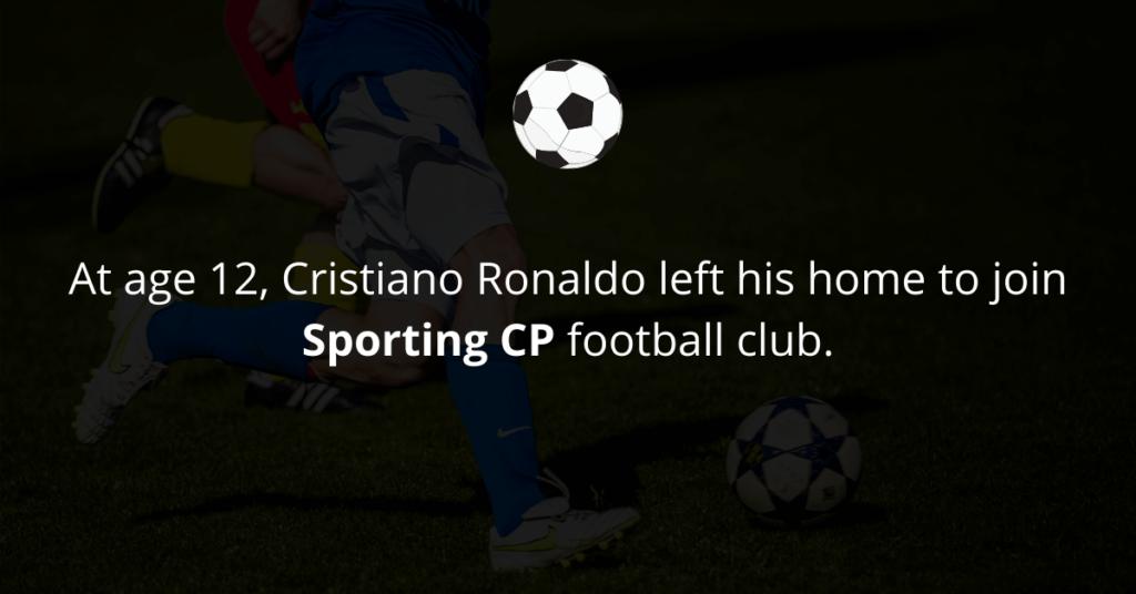 Cristiano Ronaldo joined Sporting CP