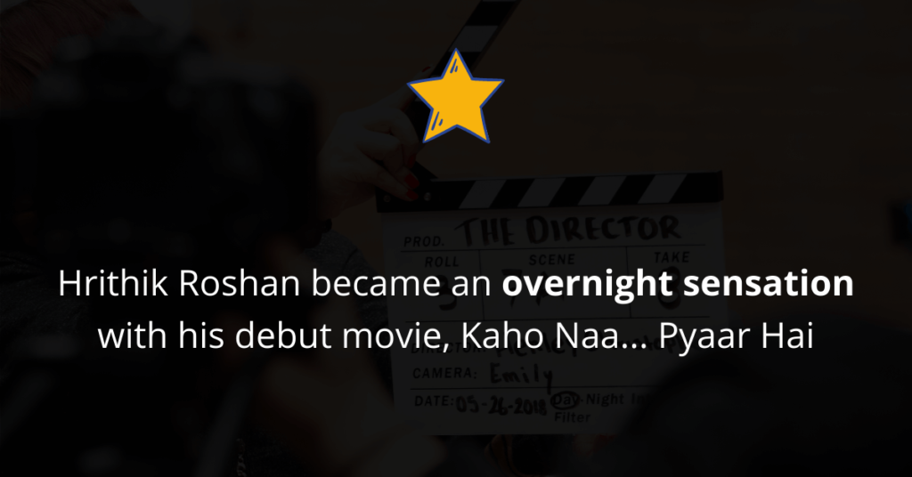 Hrithik Roshan became an overnight sensation