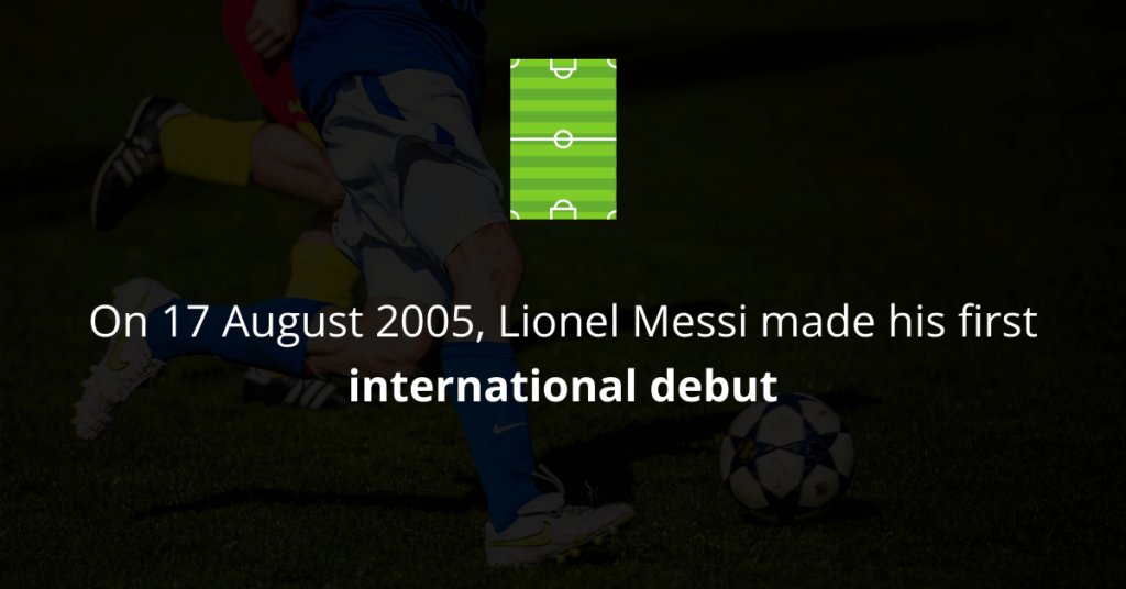 Lionel Messi made an international debut