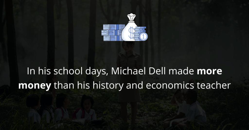 Michael Dell made money