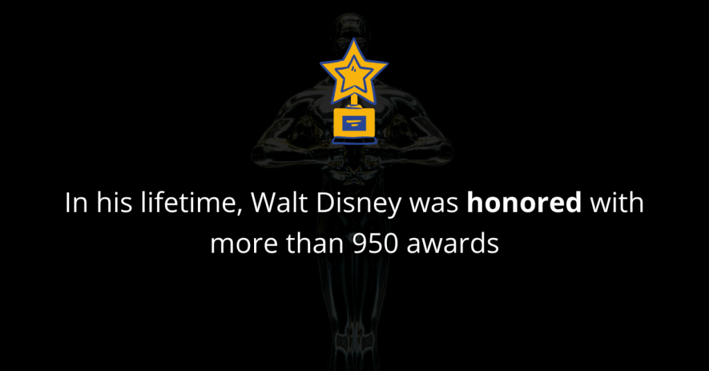 Walt Disney was honored with many awards