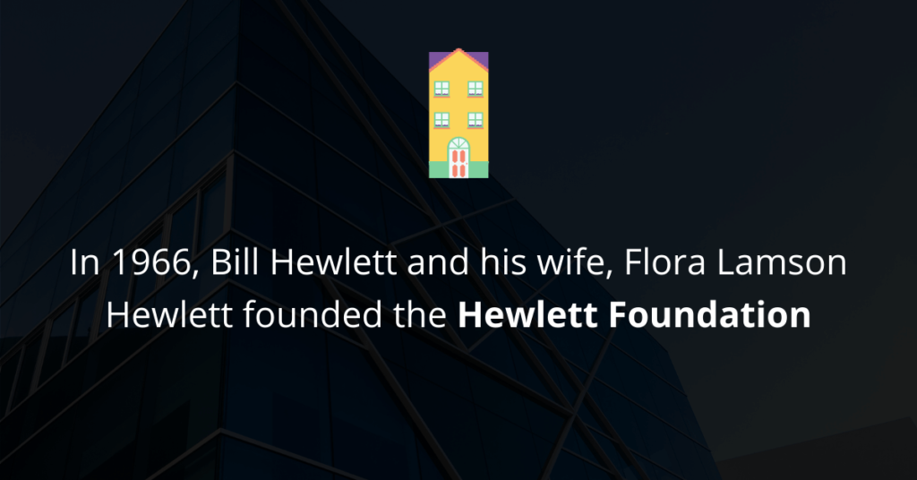 foundation of Hewlett Foundation