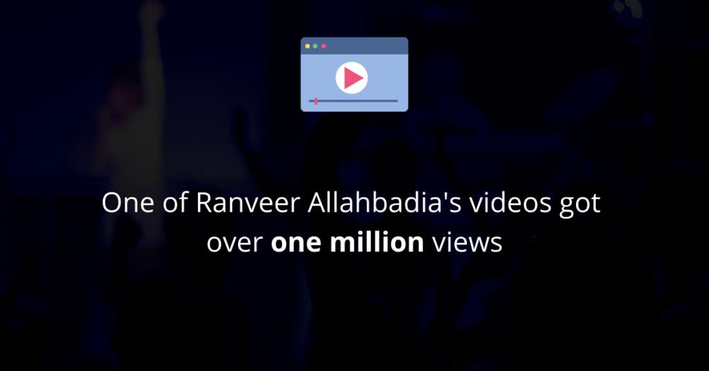 One of Ranveer Allahbadia's videos became very popular